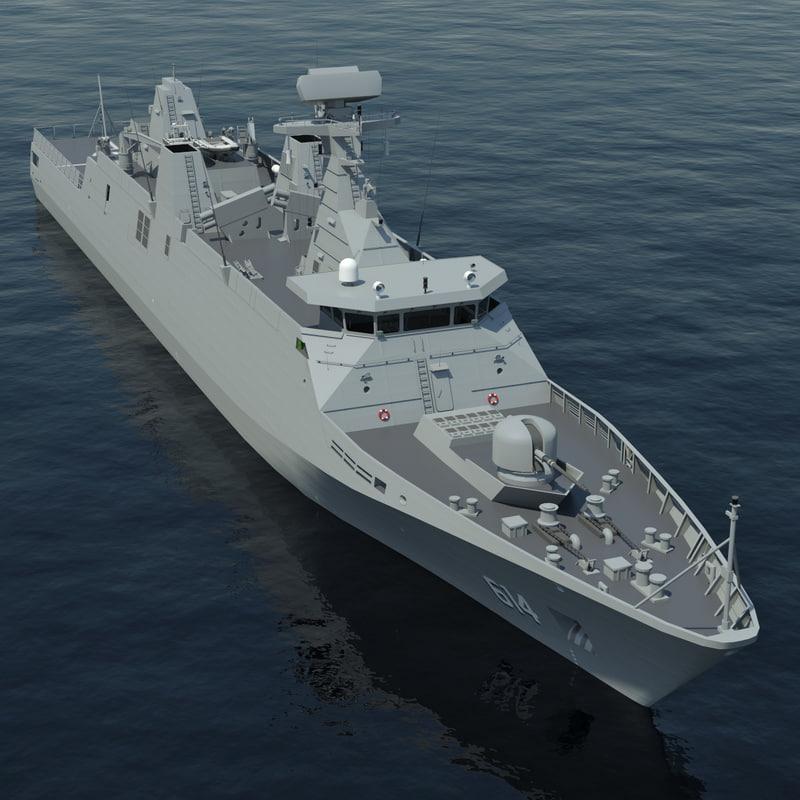 frigate sigma class 3d max