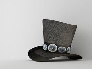 3d slash hat