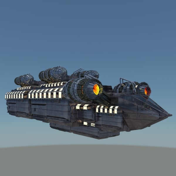 3d model supply space ship