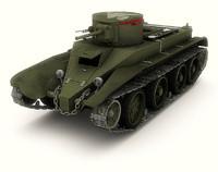 soviet bt 2 fast 3d model
