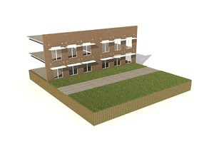 3d wall section model