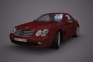 3d mercedes benz sl55