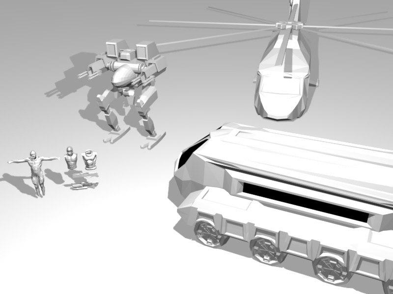 3d armor army transport model