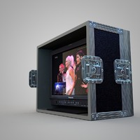 3d c4d flight case monitor hd
