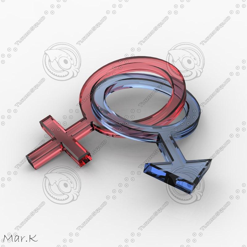 3ds male female gender symbols