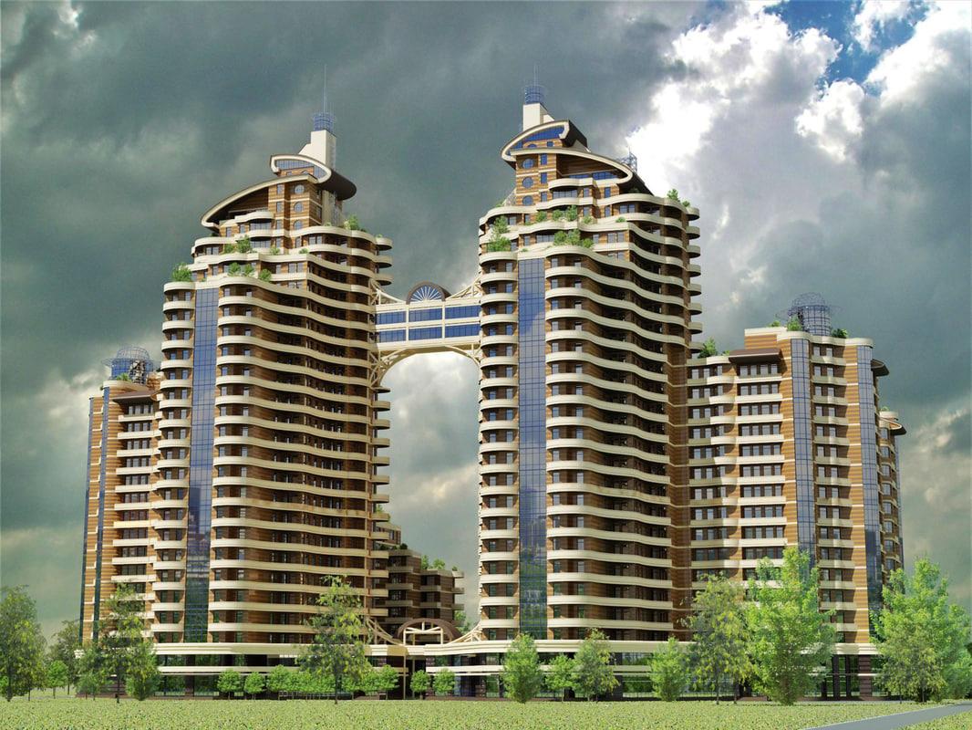 3d skyscraper modern pikovmi
