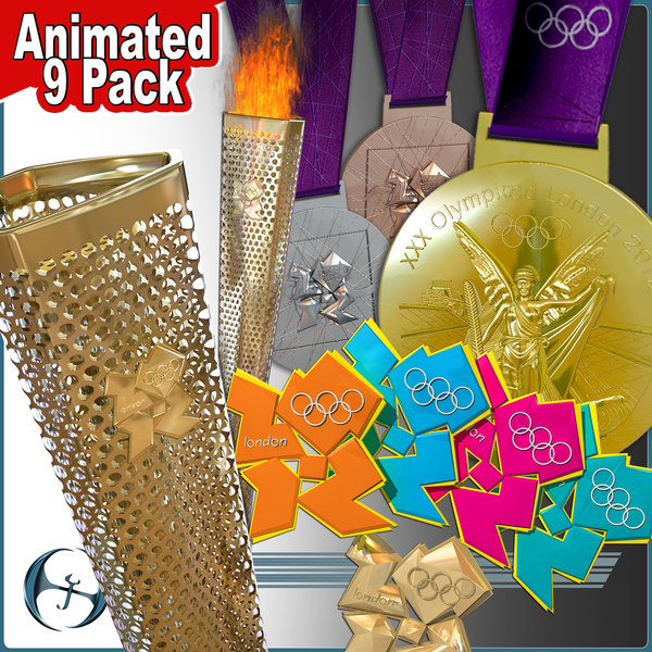 3d 2012 london olympics torch