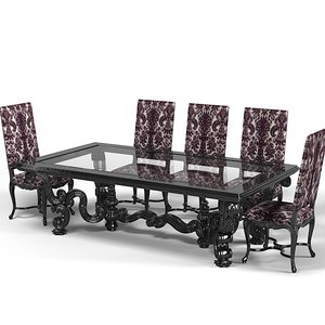 angelo dining table 3d model