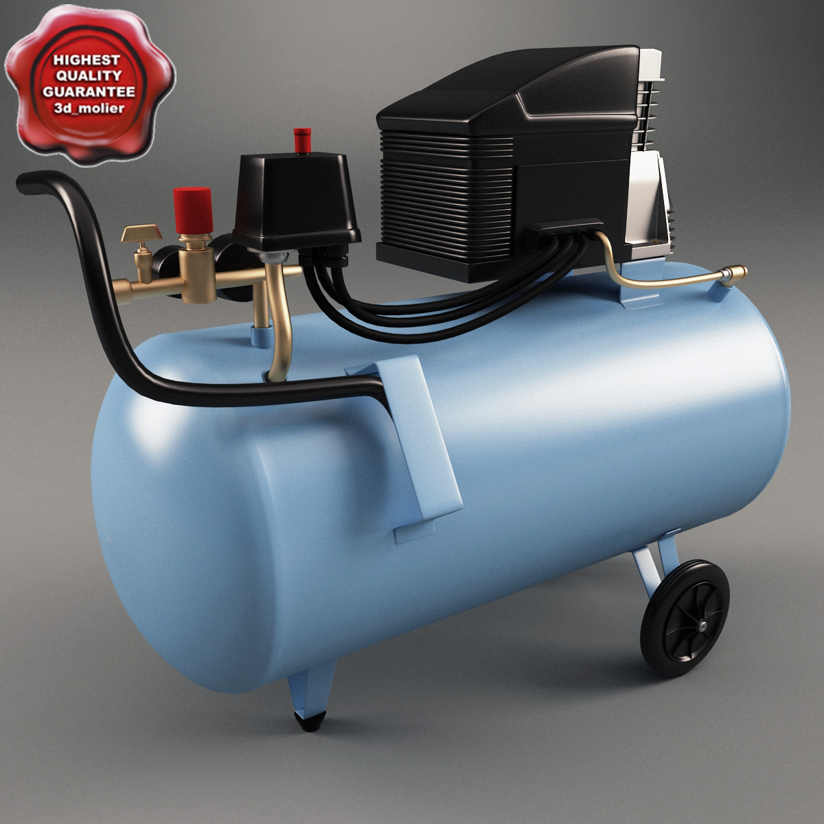 3d model air compressor abac estoril