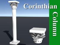 corinthian column 3d lw