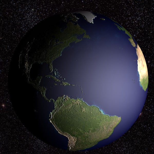 space earth 3d max