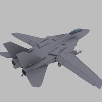 F-14 Tomcat US Navy Fighter Jet Game Model