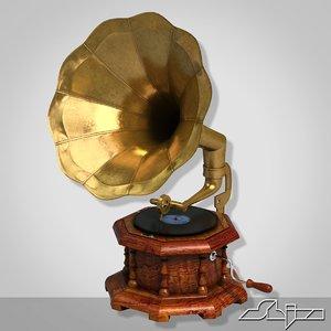 3ds gramophone grammophon record