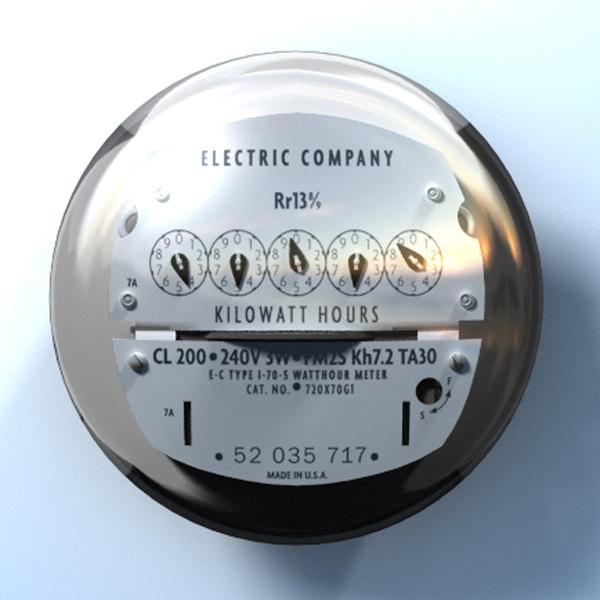 electric meter 3d model