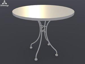 3d mosaic table 80cm model