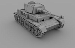 germany tank panzer iv 3d model