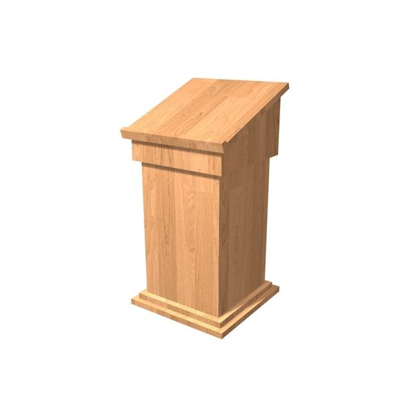 free podium stage presentation 3d model