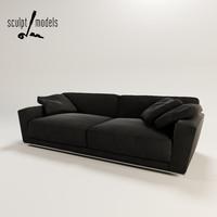 b italia luis sofa 3d max