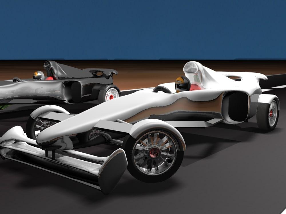 formula car 3d obj