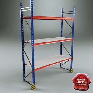 3d warehouse rack model