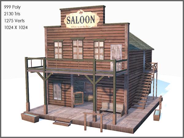 western saloon 3d max