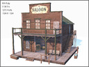 Western Saloon, Low Poly, Textured