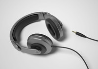 headphones head phones 3d model