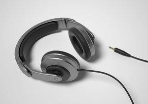 headphones head phones 3d model