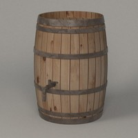 wooden barrel 3ds