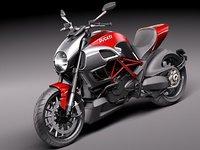 3d ducati diavel 2011 sport bike model