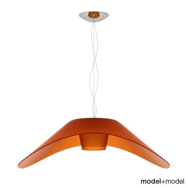 3d foscarini fly-fly suspension lamp model