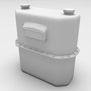 gas meter gasmeter 3d model