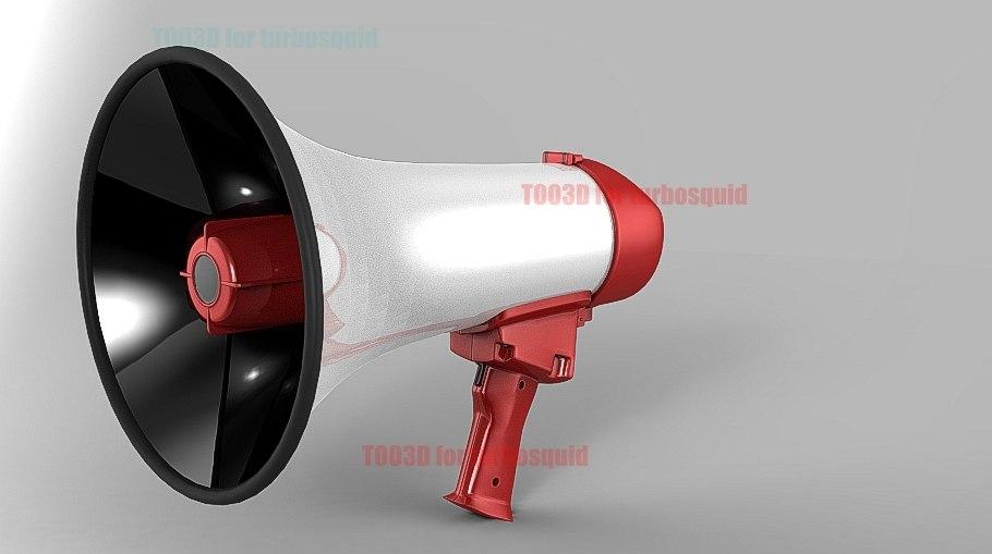 megaphone 3d lwo