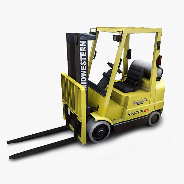 3ds max photorealistic forklift hyster 60