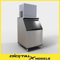 commercial ice machine 3d model