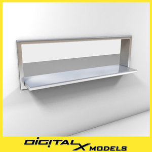 commercial kitchen pass-through window 3d 3ds
