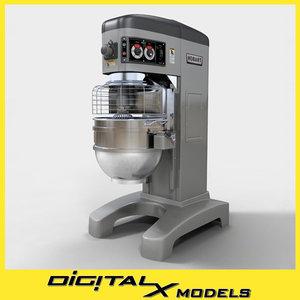 3ds commercial floor mixer restaurant
