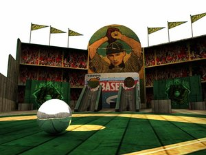 vintage baseball 3d model