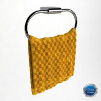 towel hanger 3d dxf