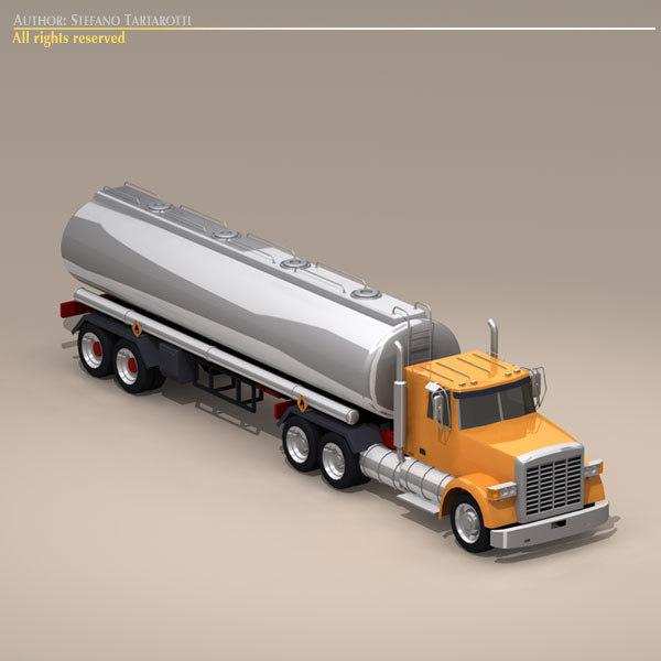 3d model generic tanker truck