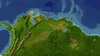 venezuela maps 3d model