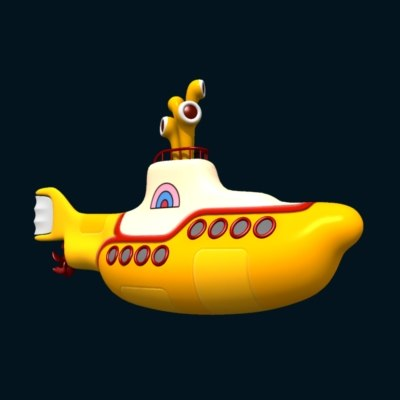 yellow submarine 3d model