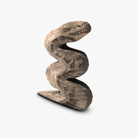 ancient stone serpent 3d model