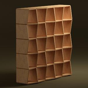neokubic bookshelf jan padrnos 3d model