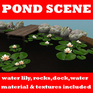 water pond 3d max