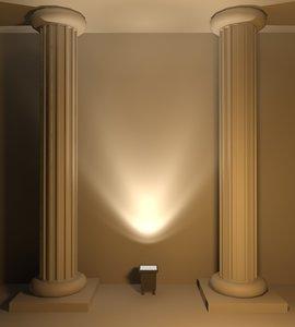 3d viabizzuno big feet lamp model