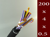 telephone cable 3d model