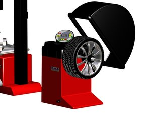 tire balance machine 3d 3ds