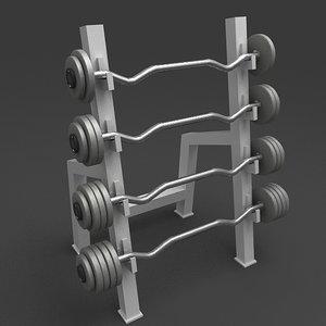 3d barbell rack