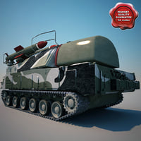 buk missile sa-17 grizzly 3d model